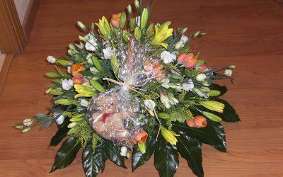 cesta flor nacimiento
