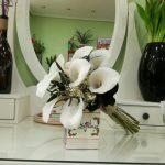 Ramo de novia de calas artificial