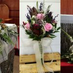 Ramo de novia y decoración de iglesia