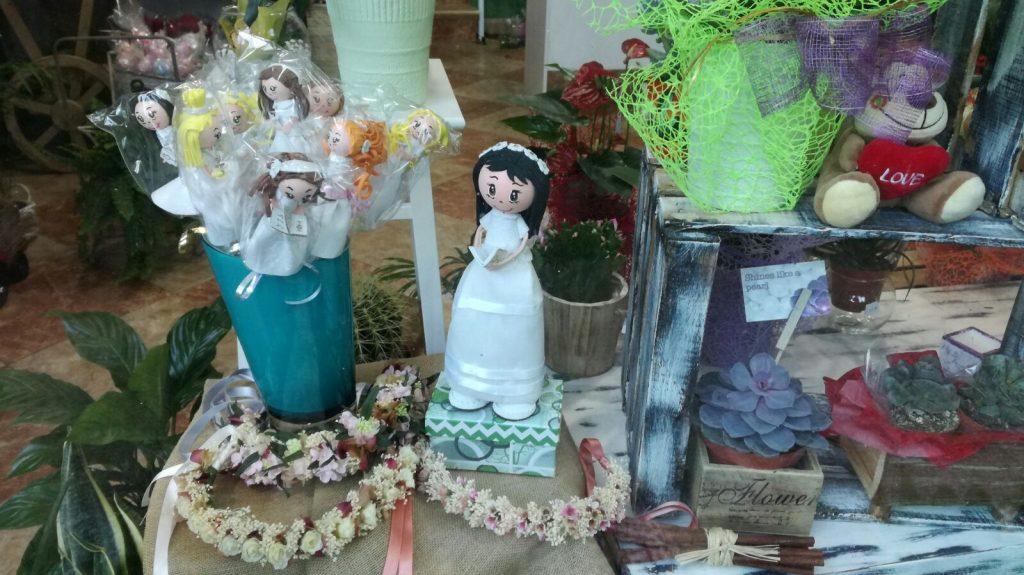 Decoración floral para comuniones